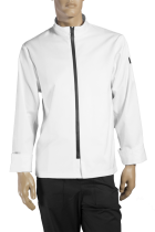 Chef jacket with zipper